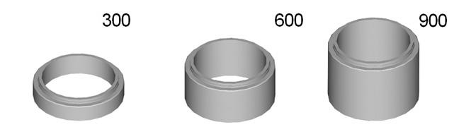 Módulos de recrecido 300 / 600 / 900