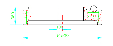 Losa reductora Ø1.200/Ø1.000