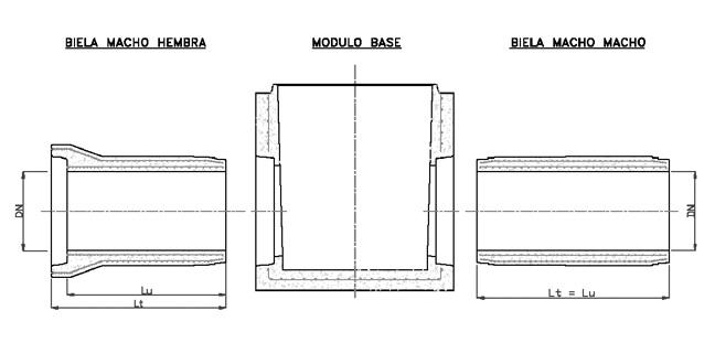 Bielas - dimensiones nominales