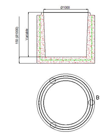 Bases circulares de Ø1.000 y Ø1.200
