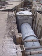 Base module for reinforced piping in trench 10